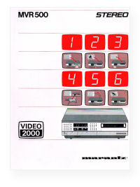MVR500 user manual picture